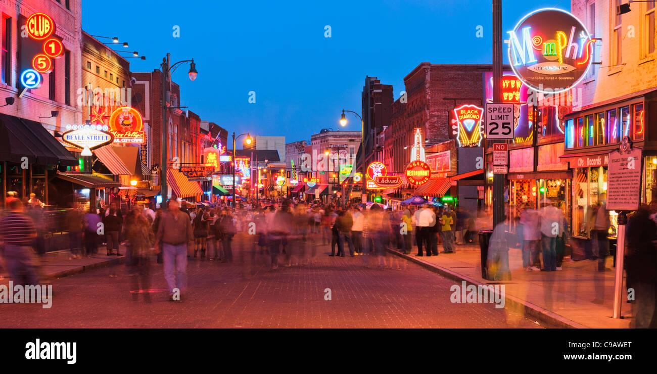 Beale Street, Memphis - Stock Image