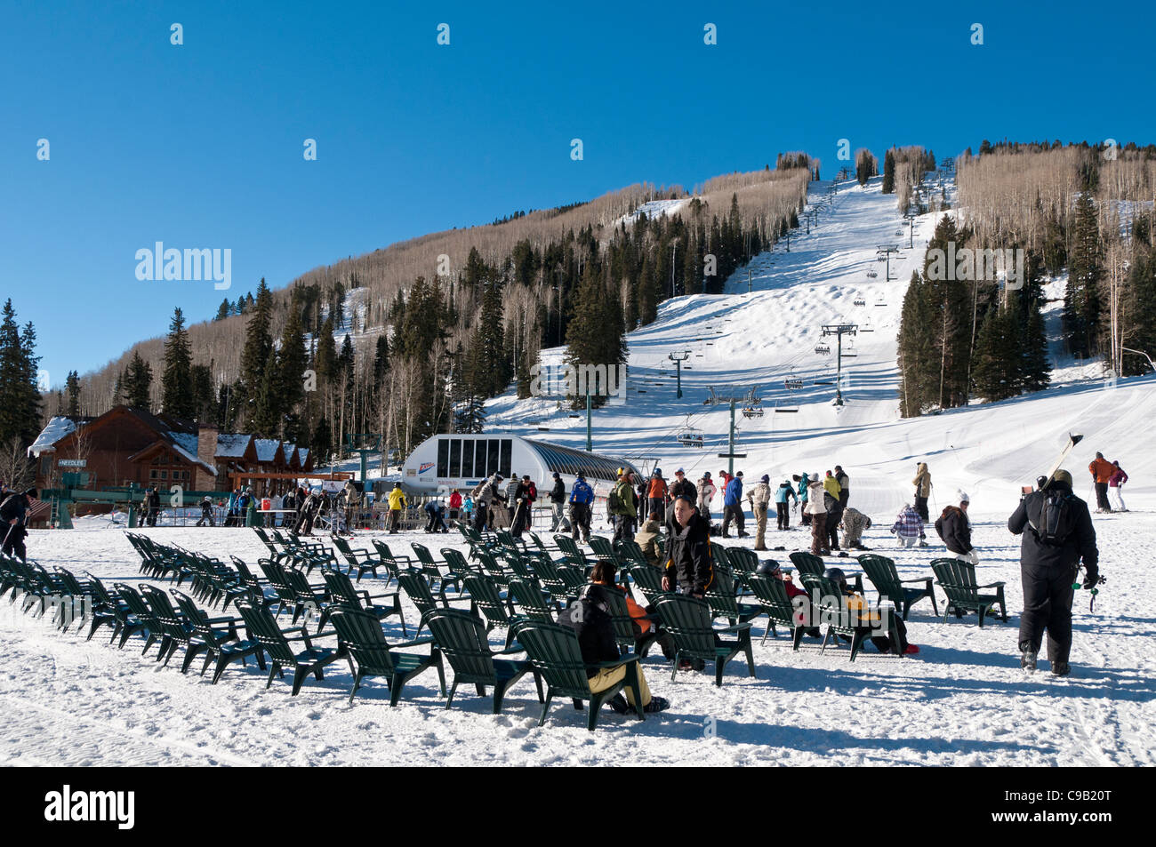 lower slopes, durango mountain resort - purgatory, durango, colorado