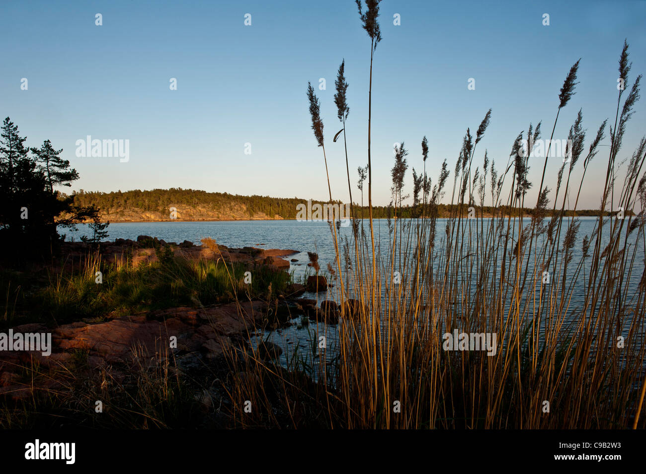 Finnish lake Aland Island Finland - Stock Image