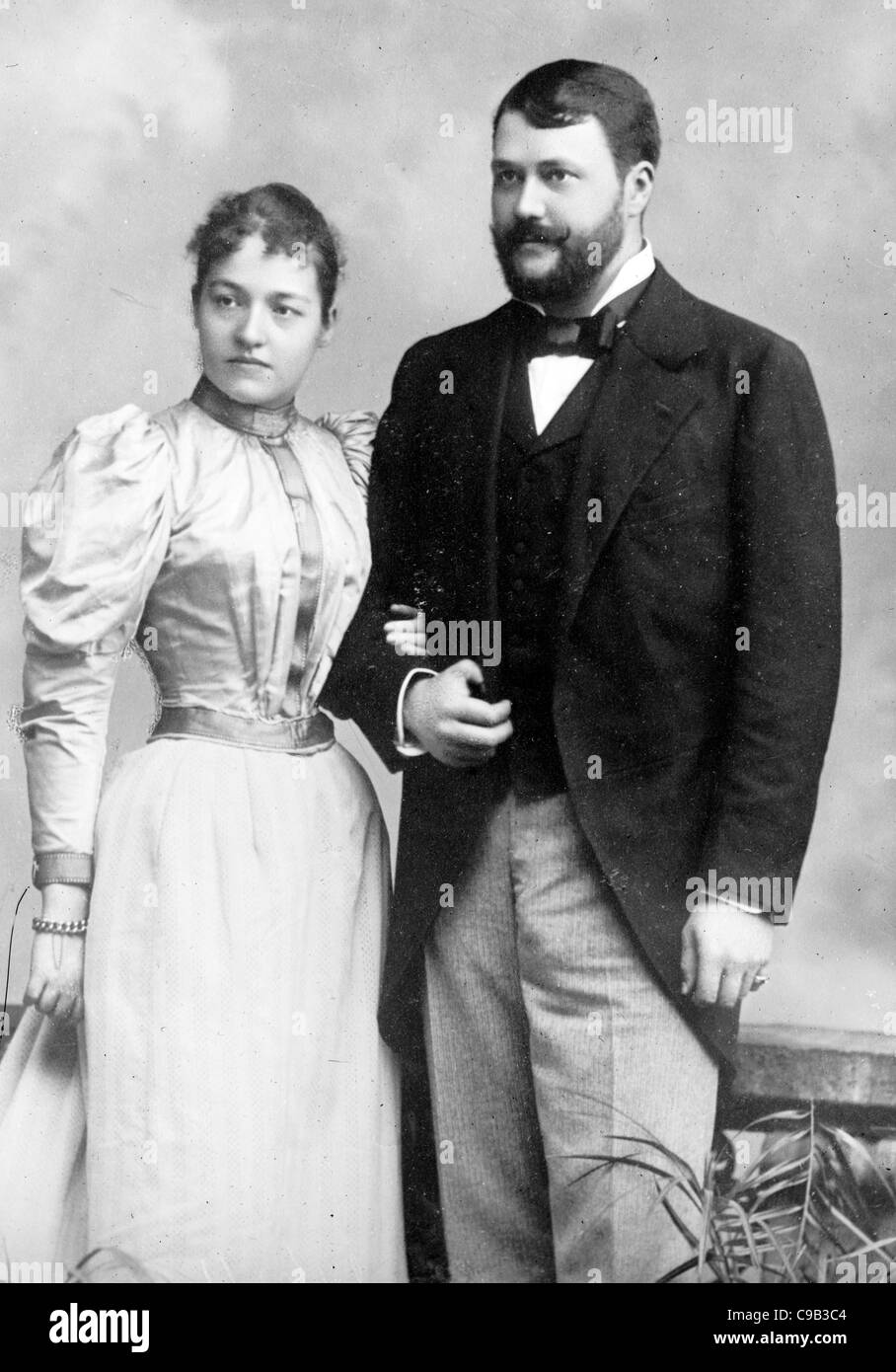 Count Johann Hadik and wife - Stock Image