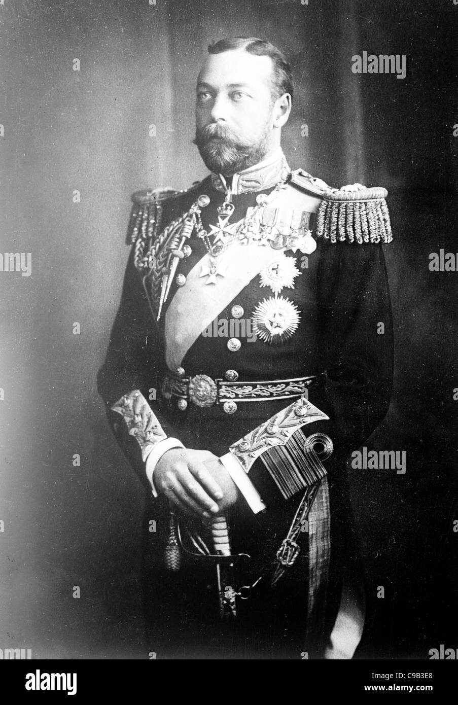 Prince of Wales, later King George V, 1908 - Stock Image