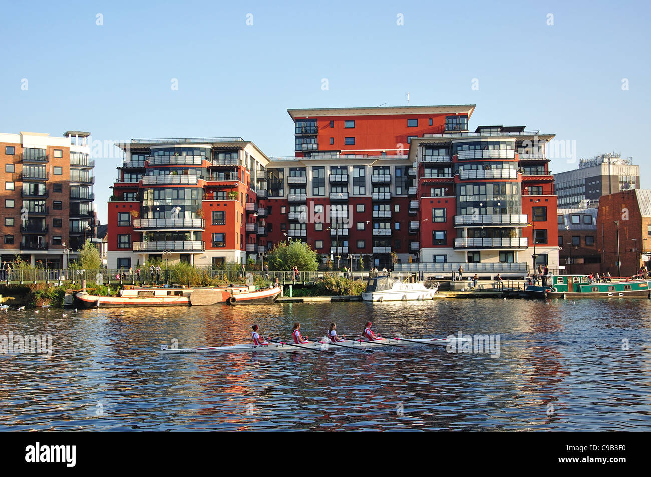 Riverside Apartments, Kingston Upon Thames, Royal Borough Of Kingston Upon  Thames, Greater London, England, United Kingdom