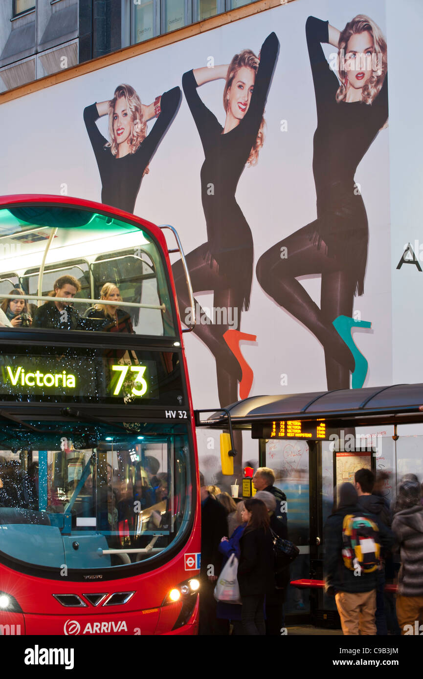 Oxford Street busy with shoppers, London, United Kingdom - Stock Image