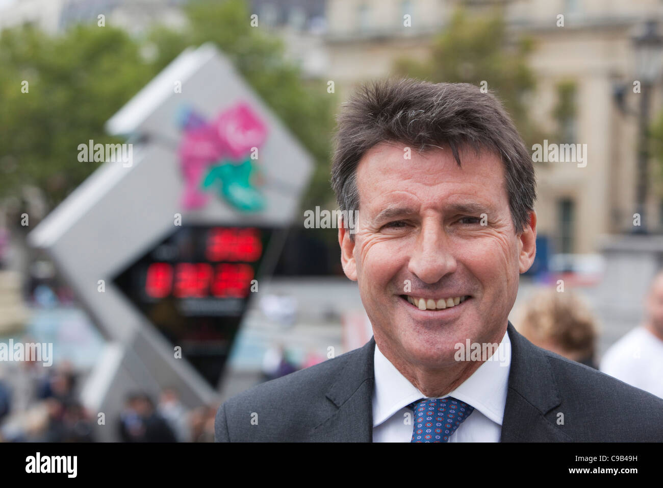 Portrait of Lord Sebastian Coe, International Paralympic Day in Trafalgar Square, London - Stock Image