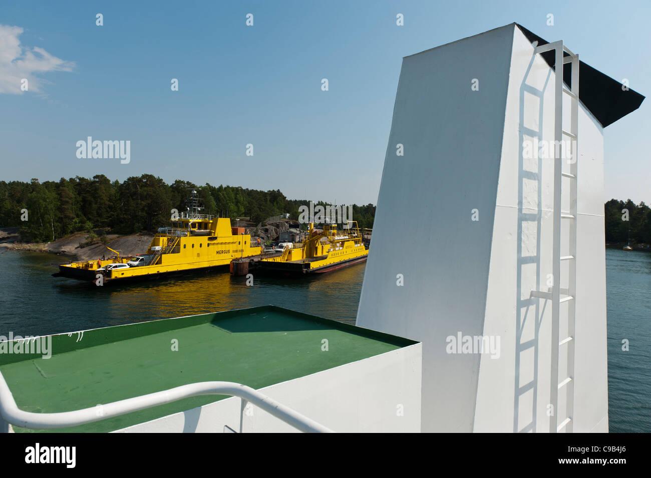 Archipelago ferries, Galtby, Korppoo Island, Turku archipelago, Finland - Stock Image
