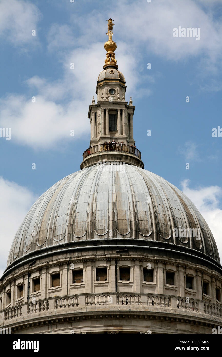Dome of St. Paul's Cathedral with observation gallery - Stock Image