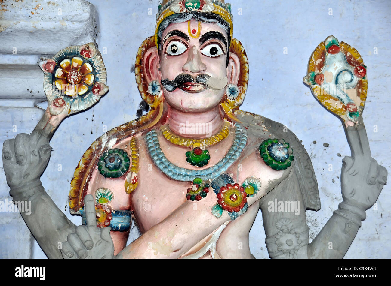 Statue sculpture deity South Indian temple Chennai 'South India' 'Traditional Indian',religion,mythology - Stock Image