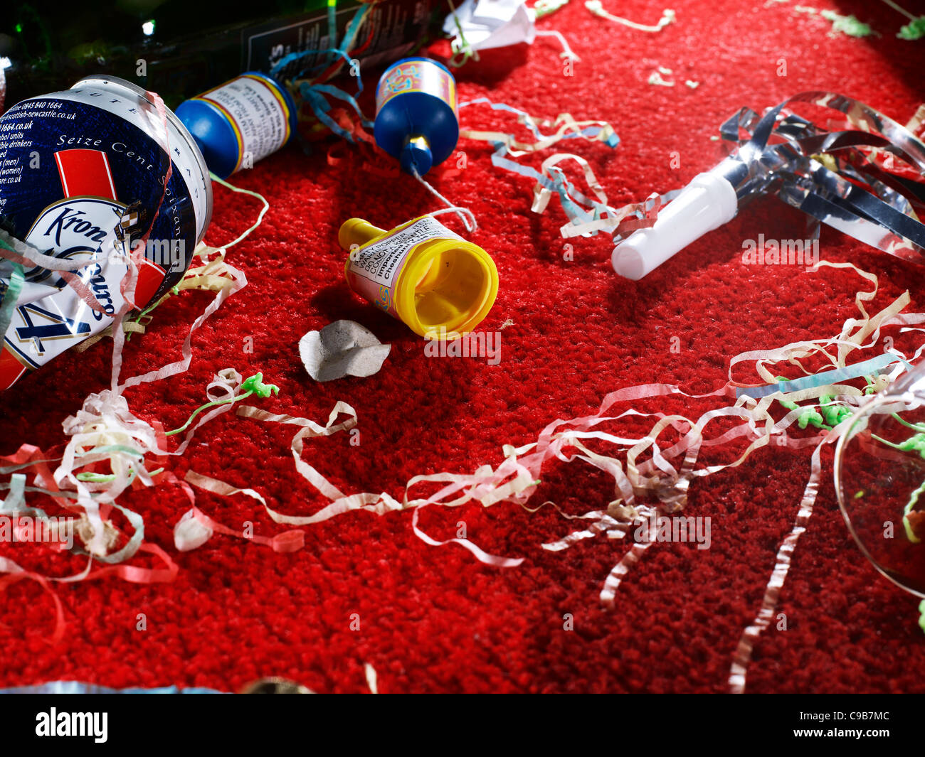Party aftermath - Stock Image