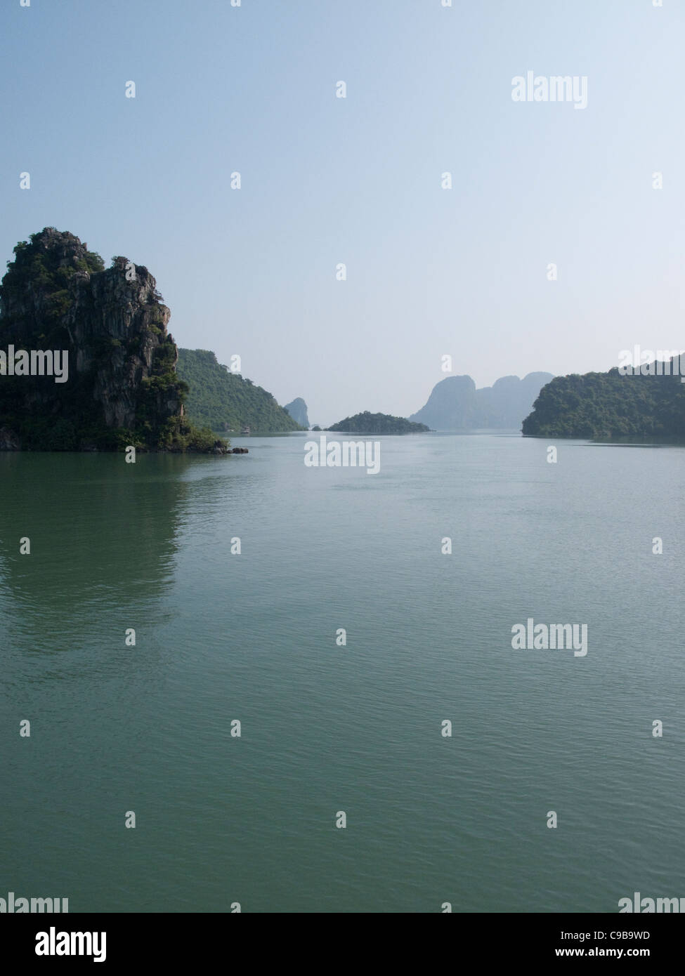 Halong Bay rock formations in the South China Sea, Vietnam - Stock Image
