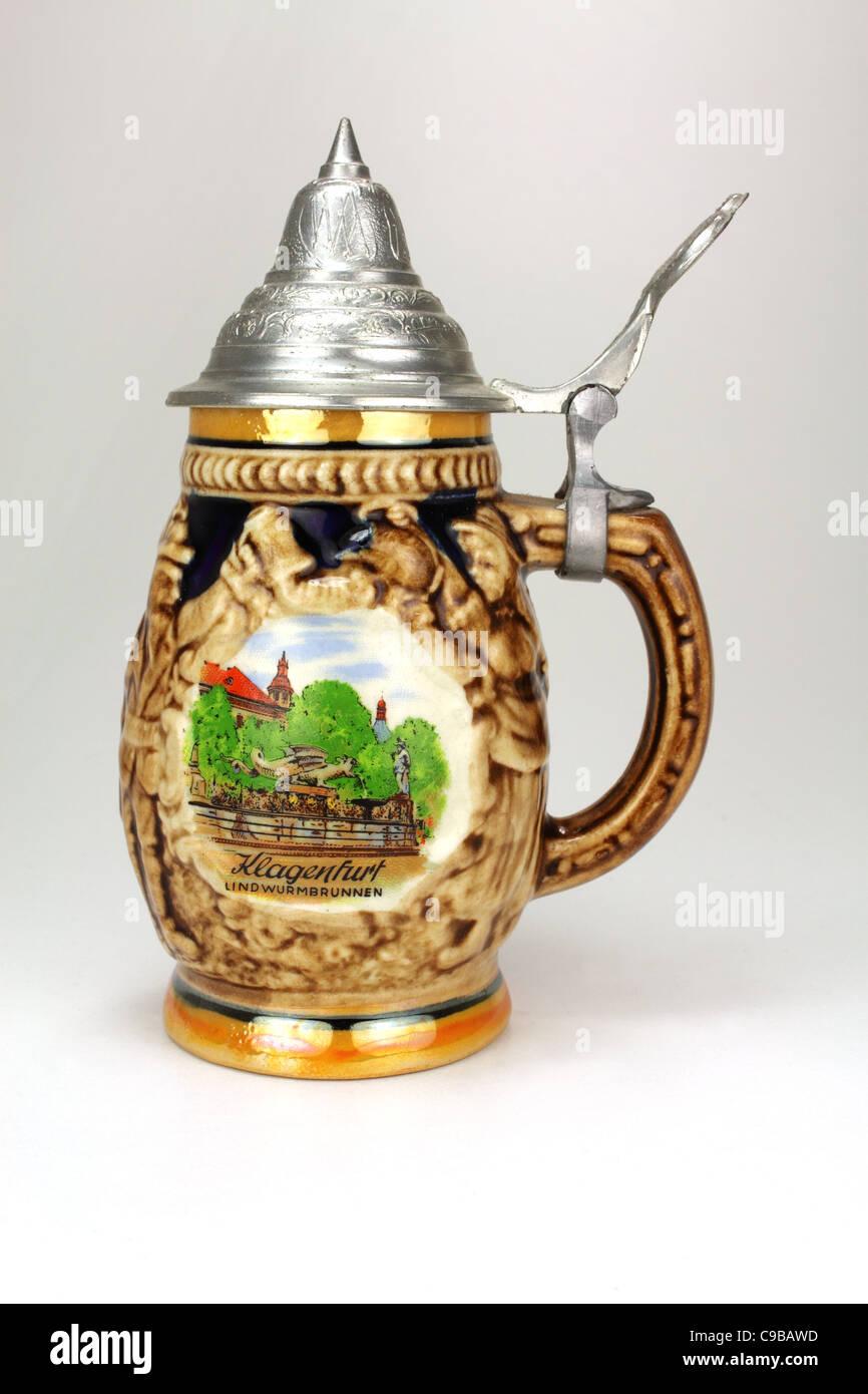 Austrian beer mug / beer stein - Stock Image