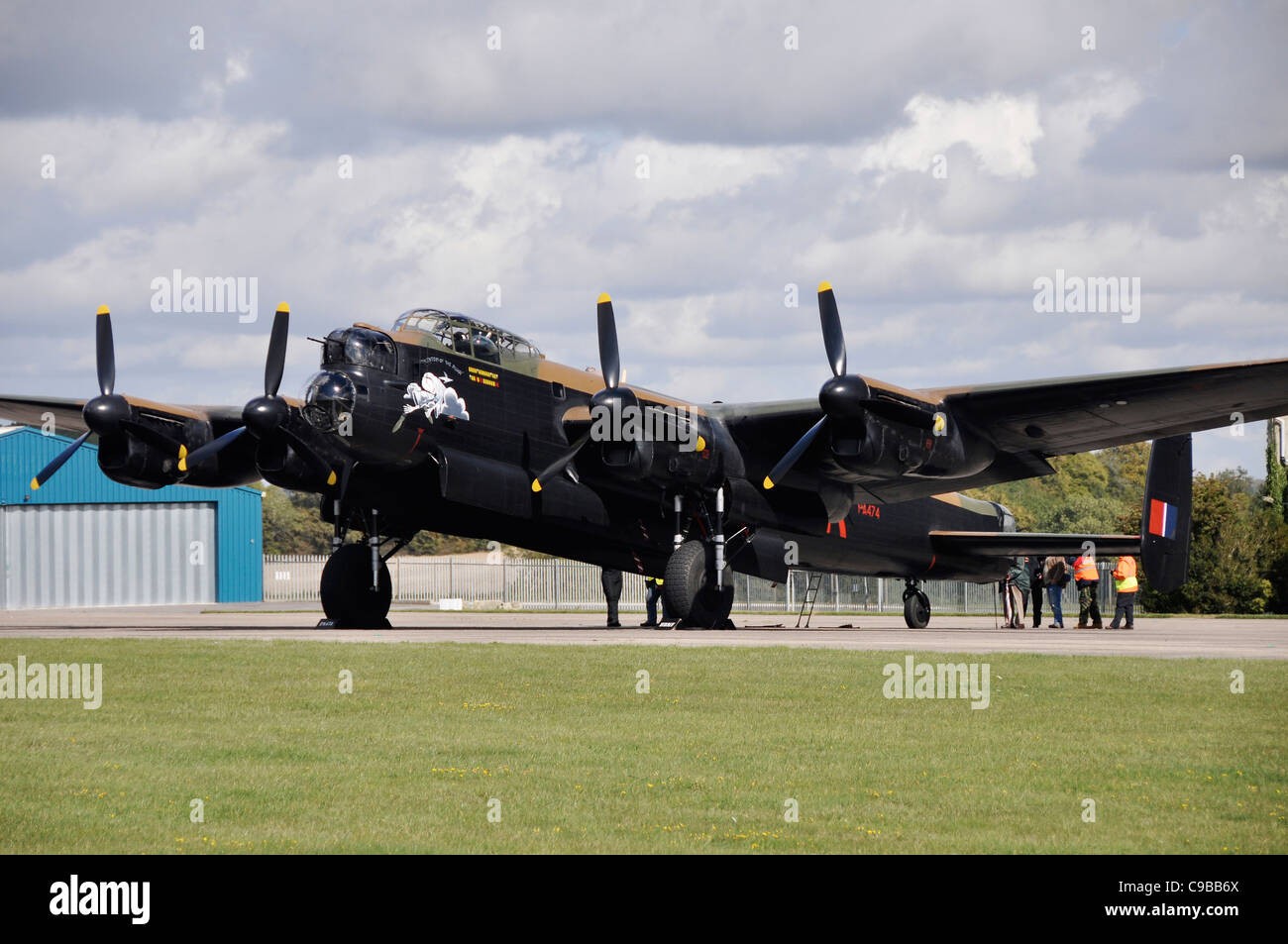 Avro Lancaster at Kemble Airfield - Stock Image