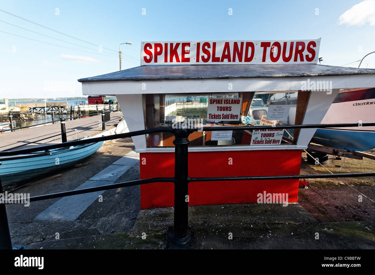 Ticket Booth, Cobh Harbor, County Cork, Republic of Ireland - Stock Image