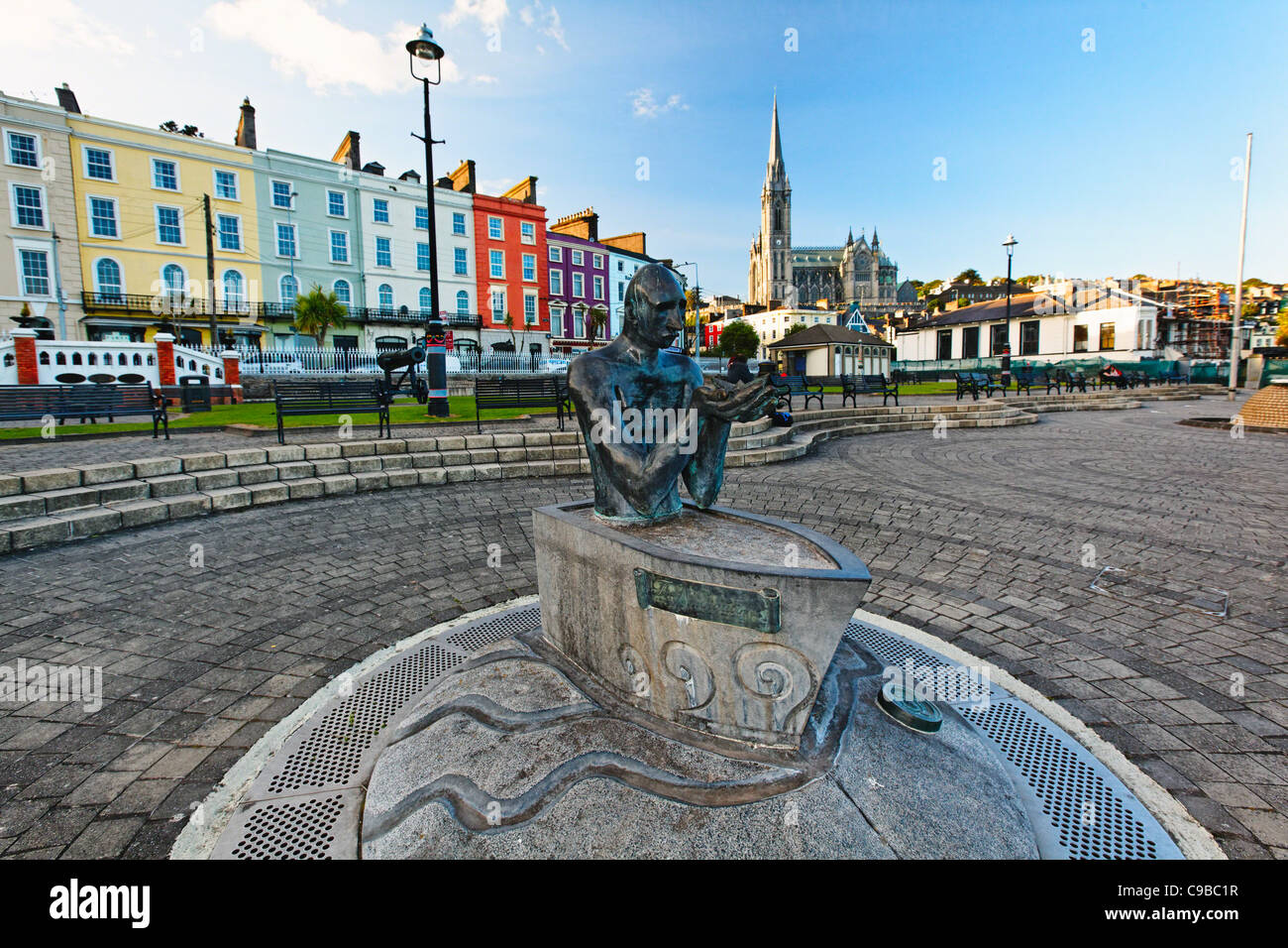 Sculpture The Navigator in JF Kennedy Park, Cobh City, County Cork, Republic of Ireland - Stock Image