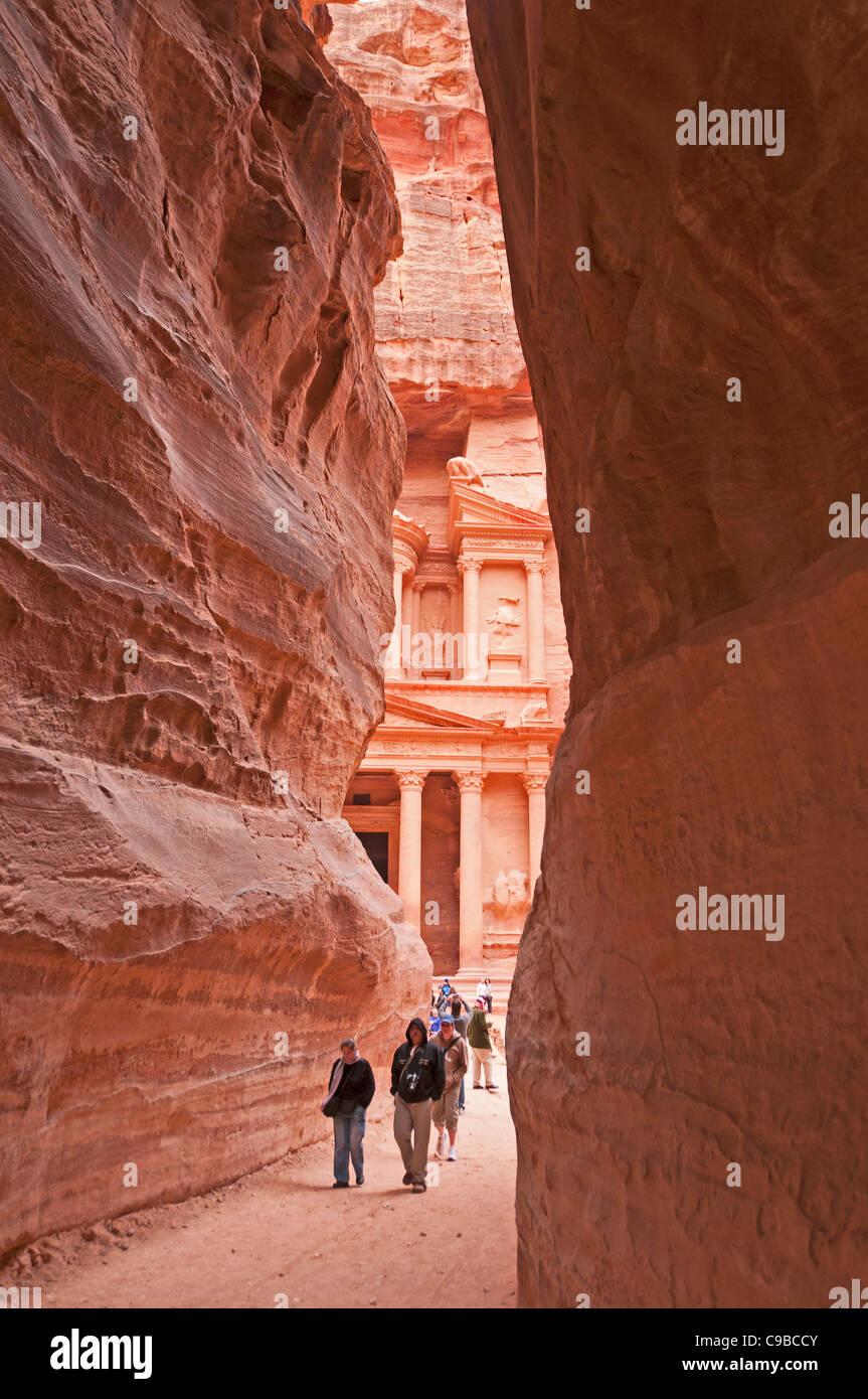 Petra Jordan middle east ancient site - Stock Image
