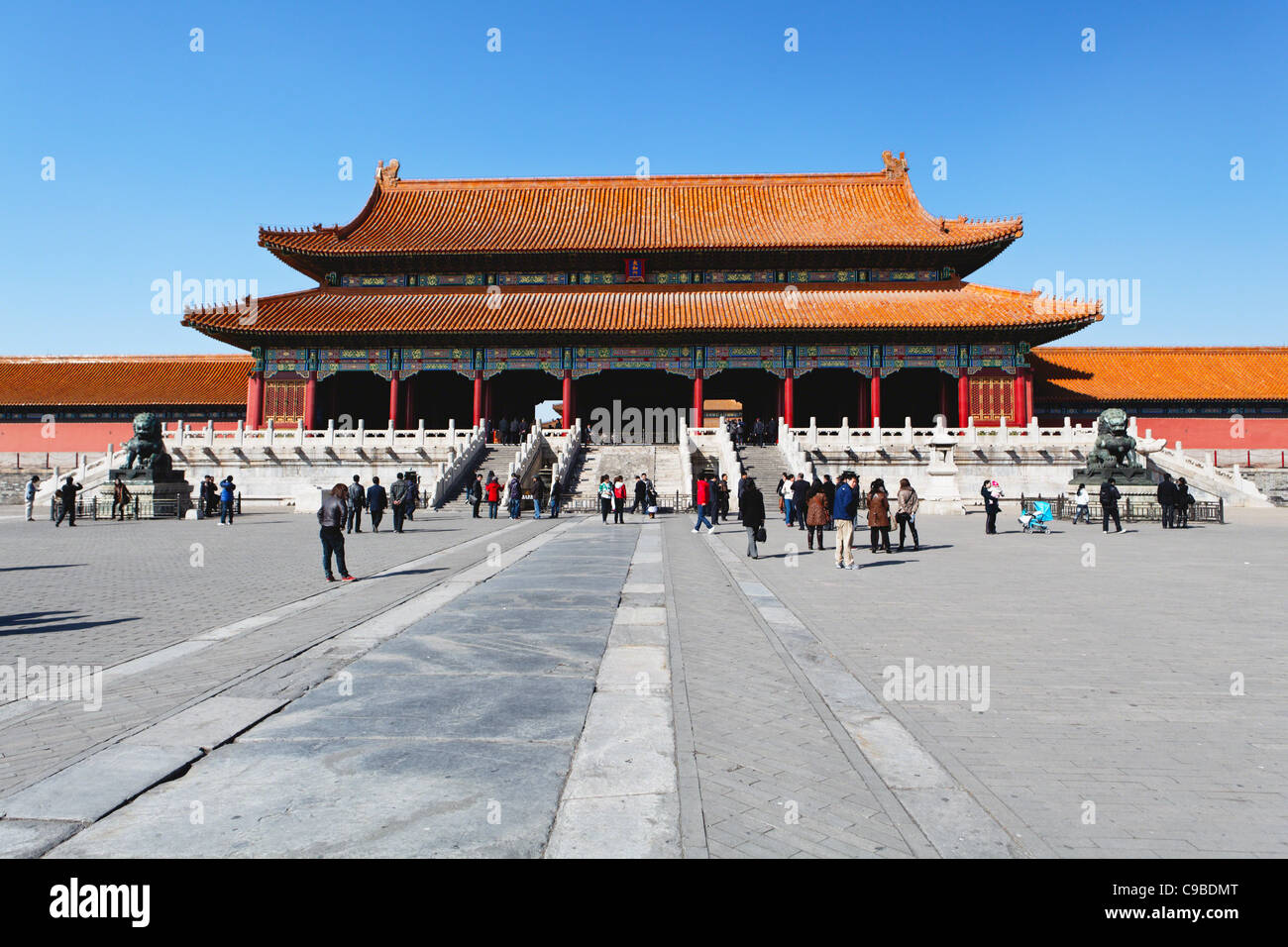 The Hall of Supreme Harmony inside the Forbidden City, Beijing China - Stock Image