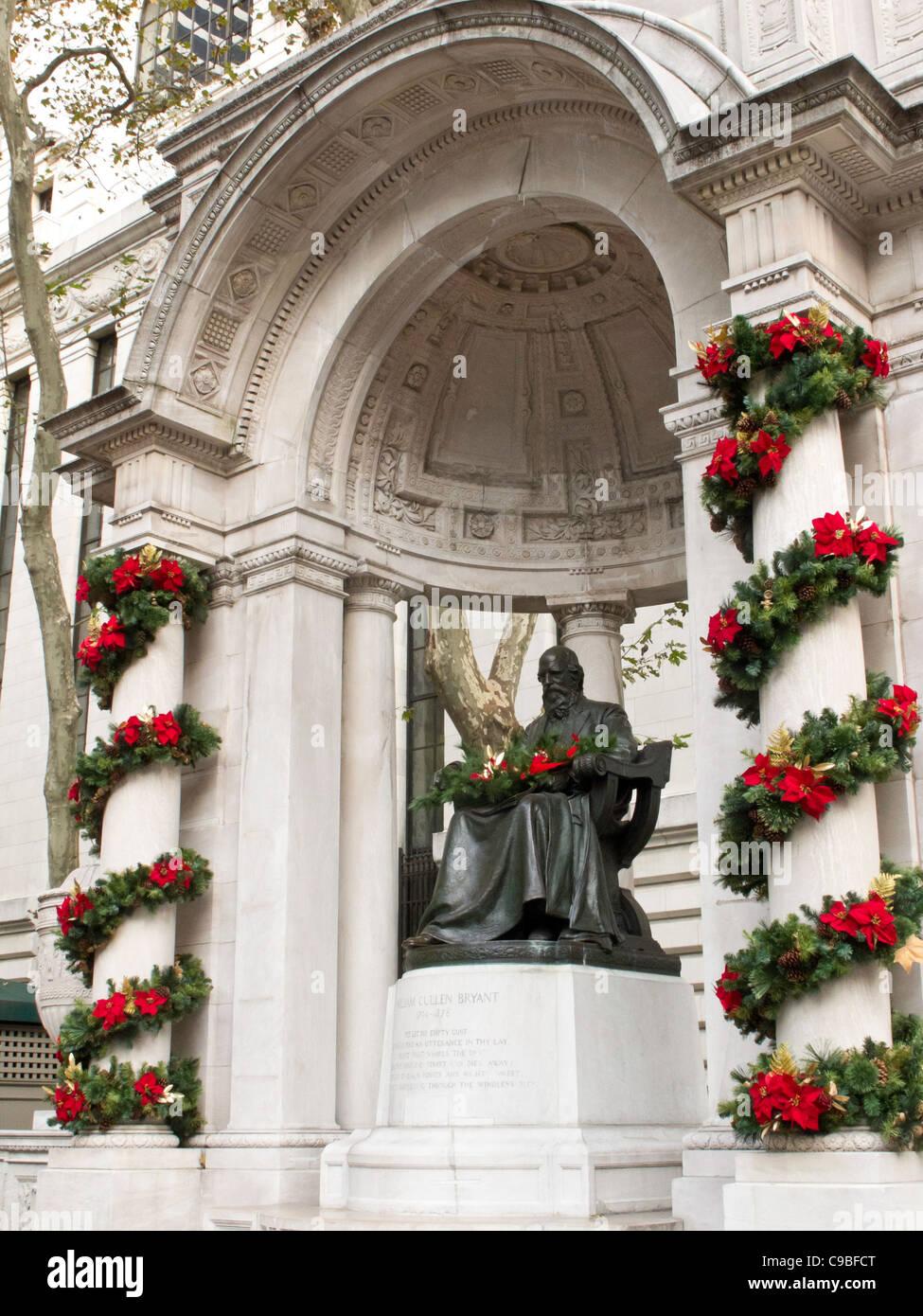 William Cullen Bryant Memorial, Bryant Park, NYC - Stock Image