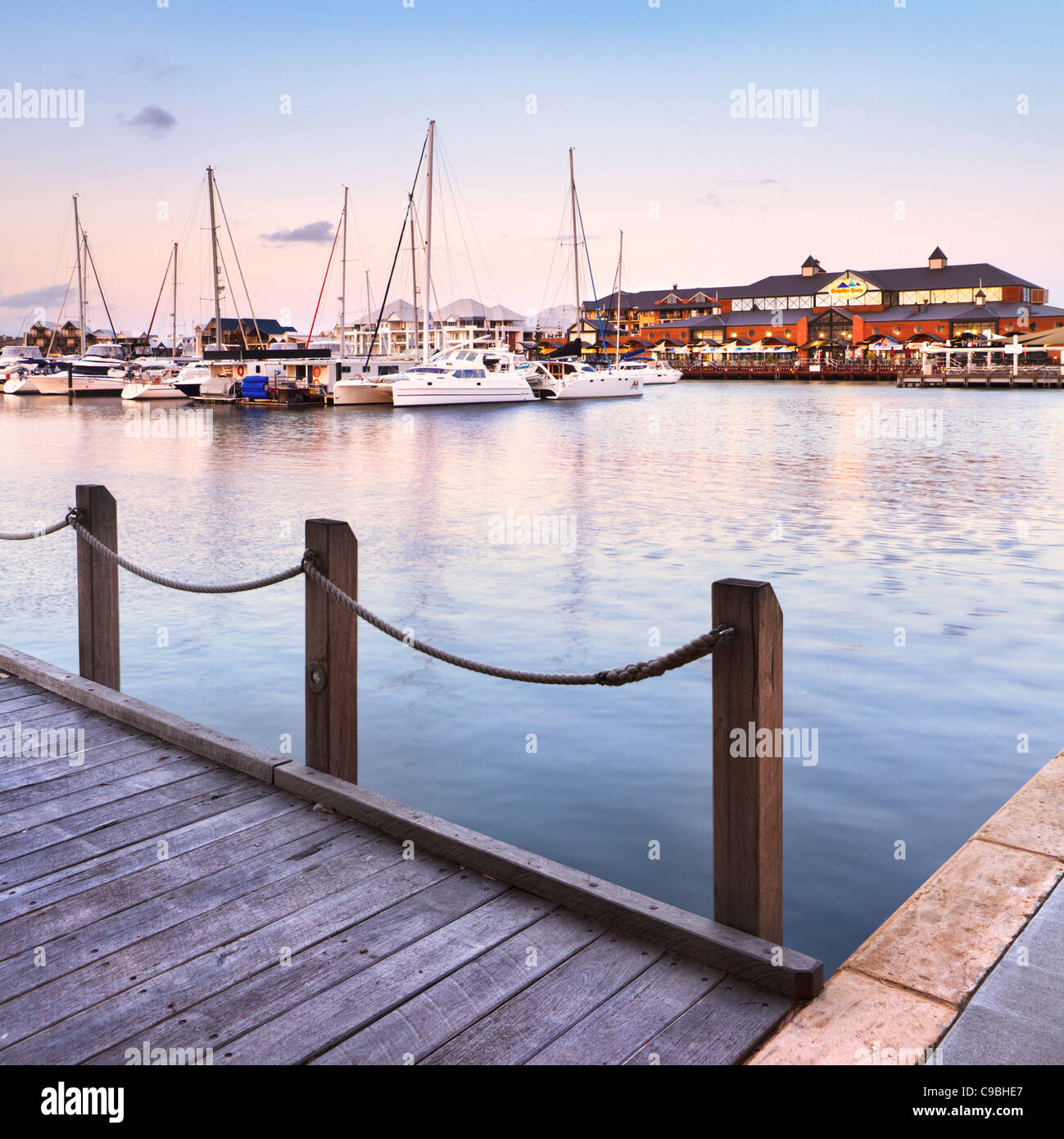 Dolhin Quay Ocean Marina in Mandurah, Western Australia - Stock Image