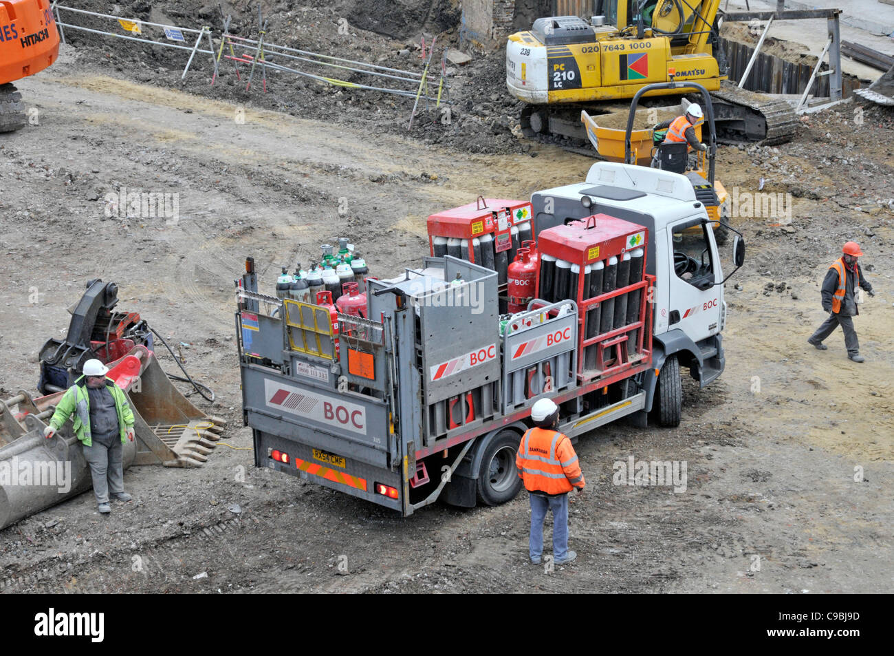 View From Above Looking Down At British Oxygen Company Boc Gas Stock Photo Alamy