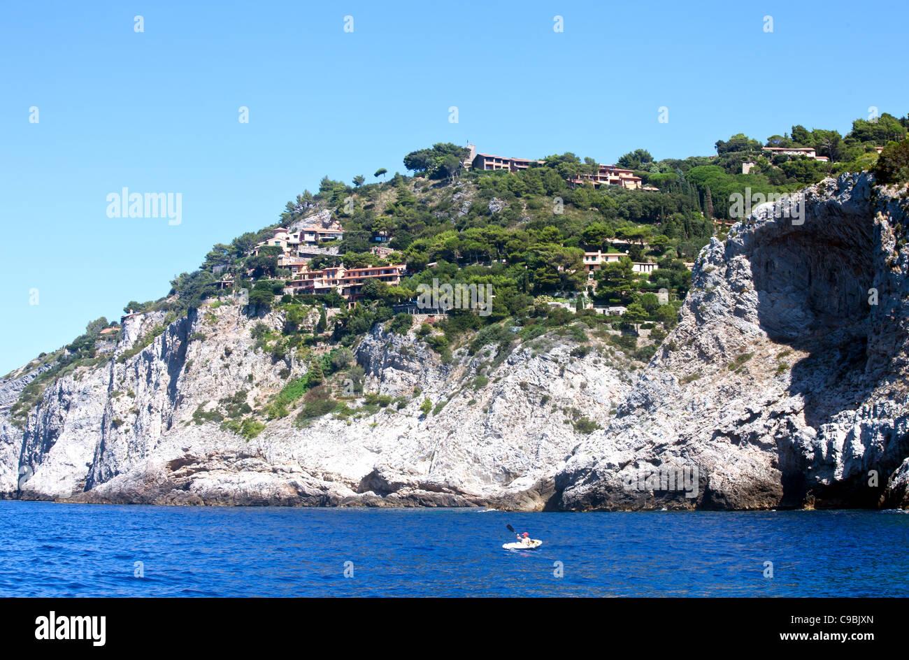 Coast of Monte Argentario, Tuscany, Italy. - Stock Image