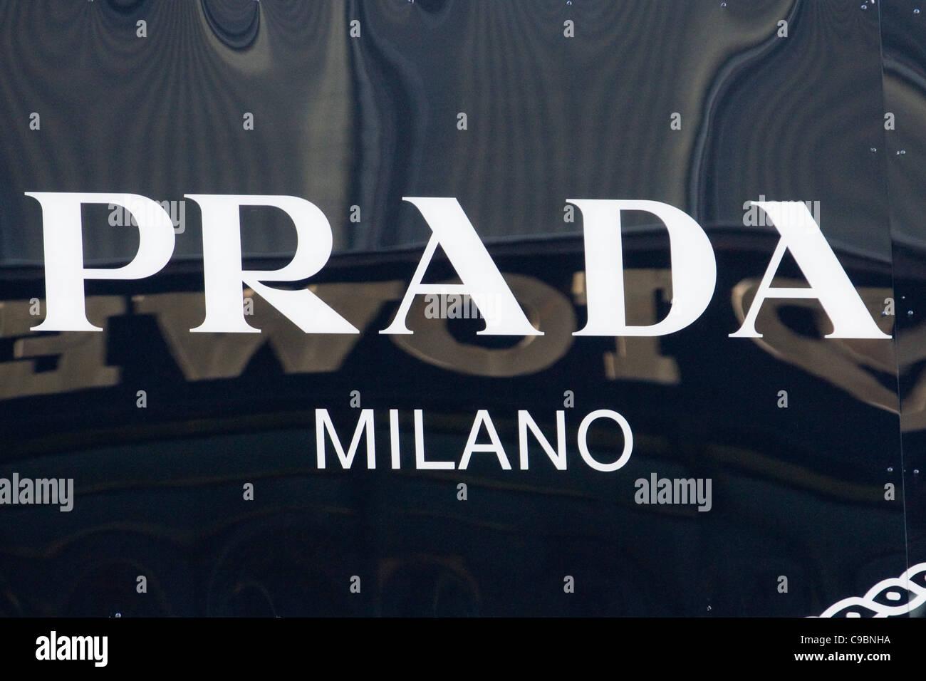9b1439d99a1 Prada Milano Famous Designer shop on Fifth avenue New York City USA ...
