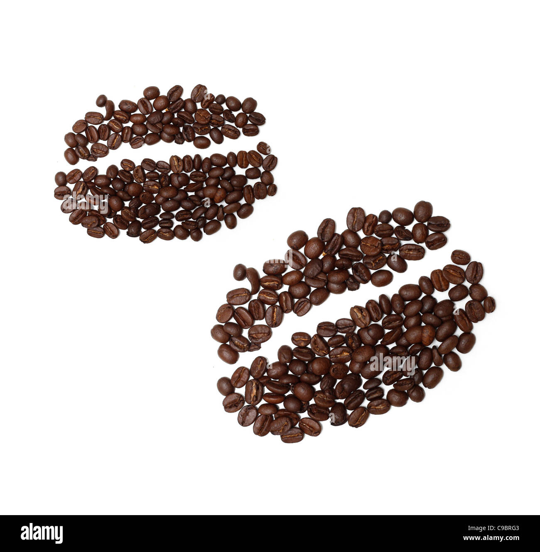 Coffee bean drawing - Stock Image
