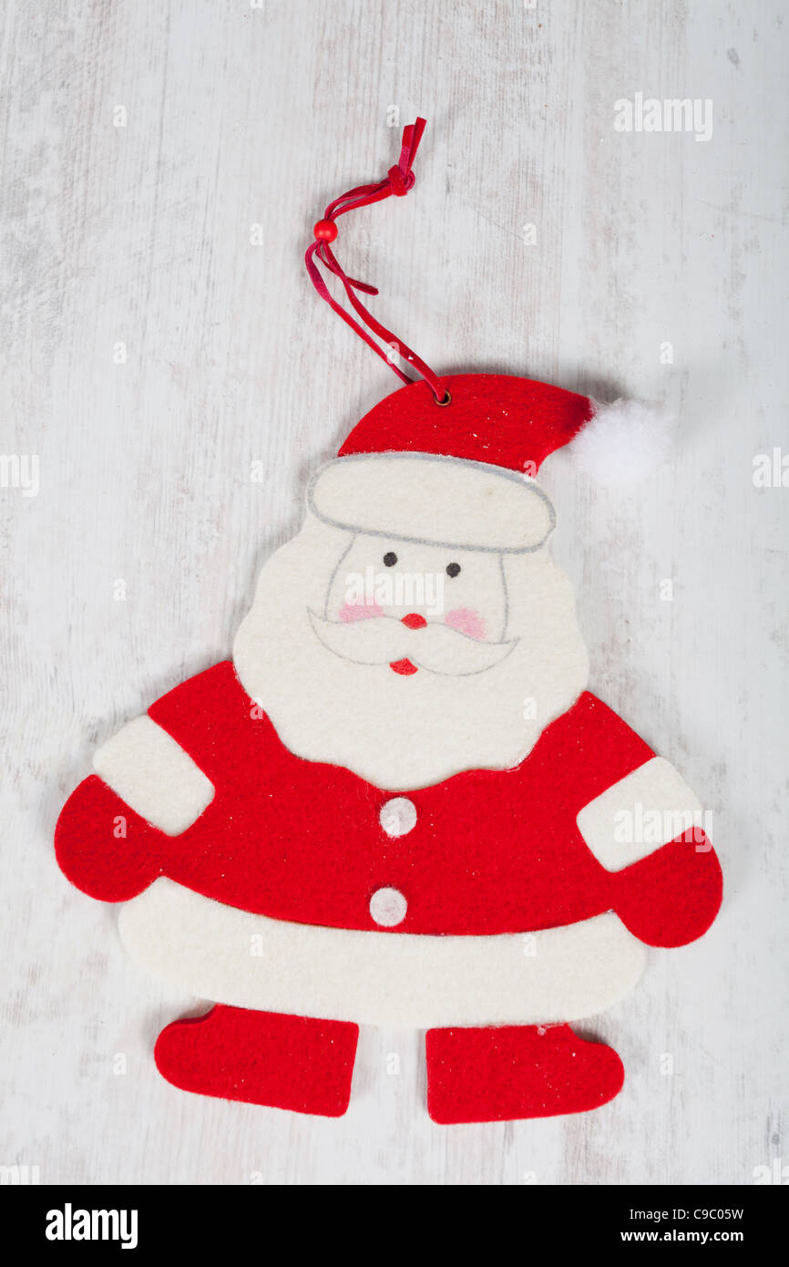 Cute Santa Claus shape for christmas tree decoration Stock Photo