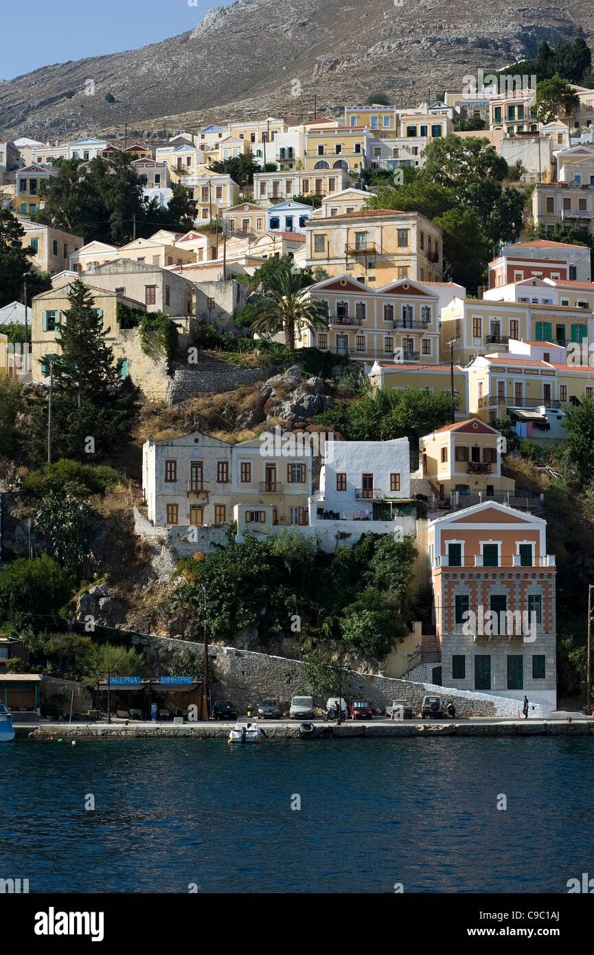 Symi island, Dodecanese, Greece - Stock Image
