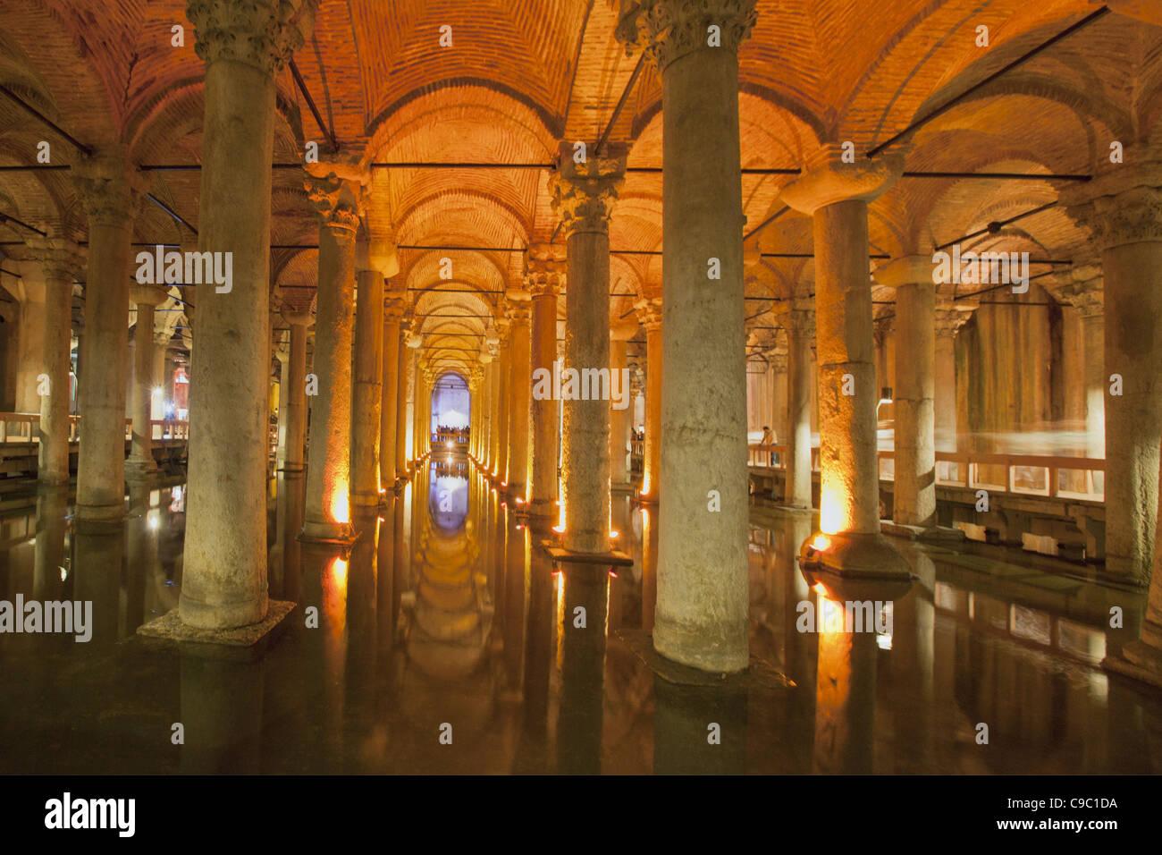 Yerebatan Sarnici , Sunken Palace Cistern, Istanbul, Turkey , Europe, - Stock Image