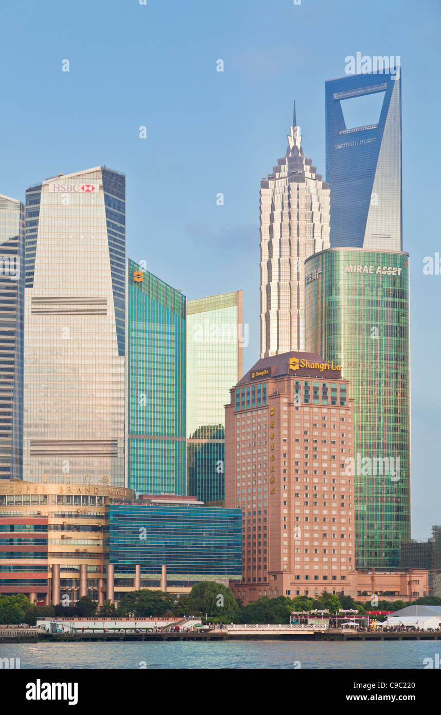 Shanghai Pudong Skyline, Shanghai, Peoples Republic of China, PRC, Asia - Stock Image
