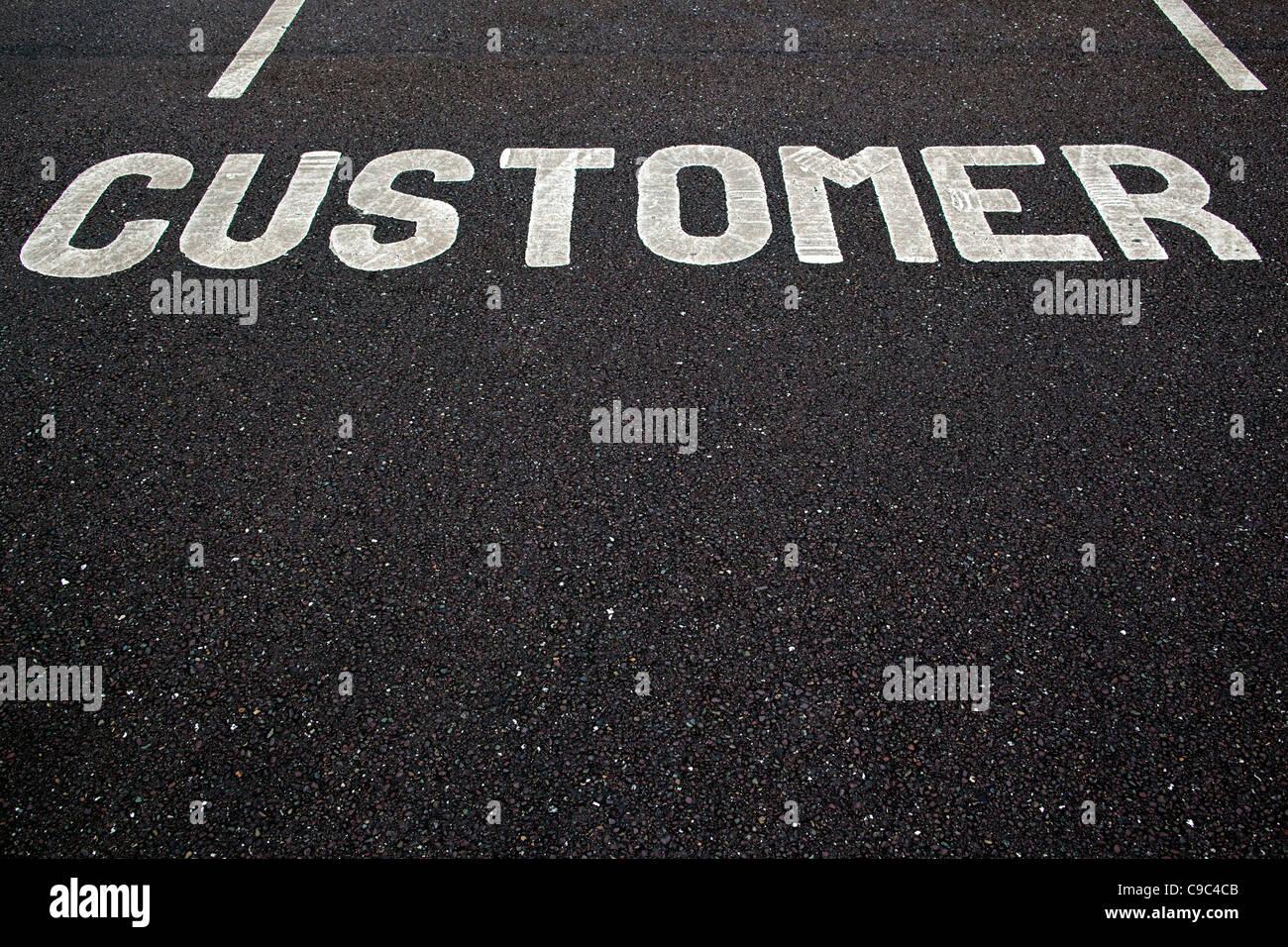 Customer parking space . Photo:Jeff Gilbert - Stock Image