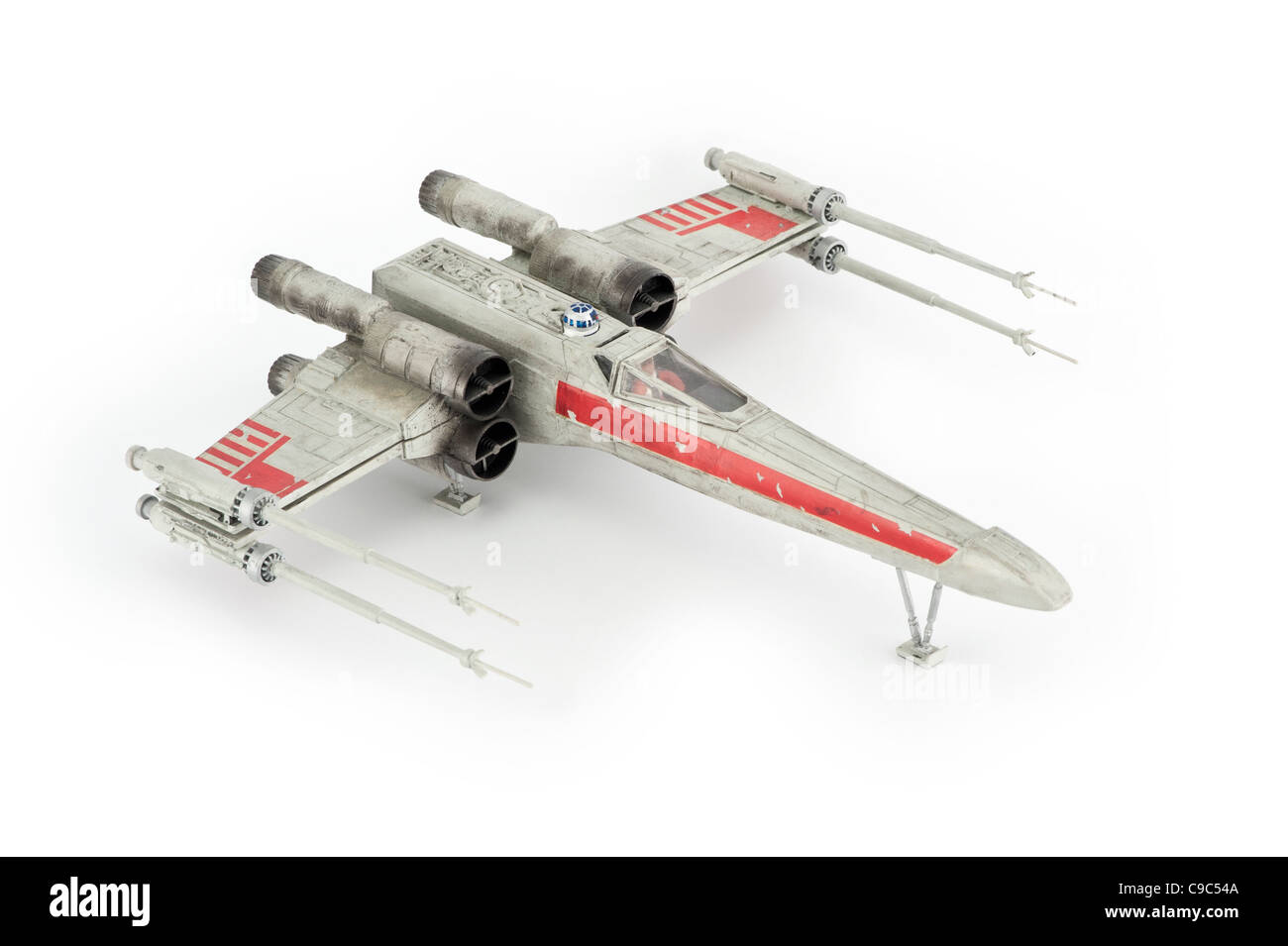 A cut-out studio shot of an X-Wing Fighter as seen in Star Wars (Editorial use only: print, TV, e-book and - Stock Image