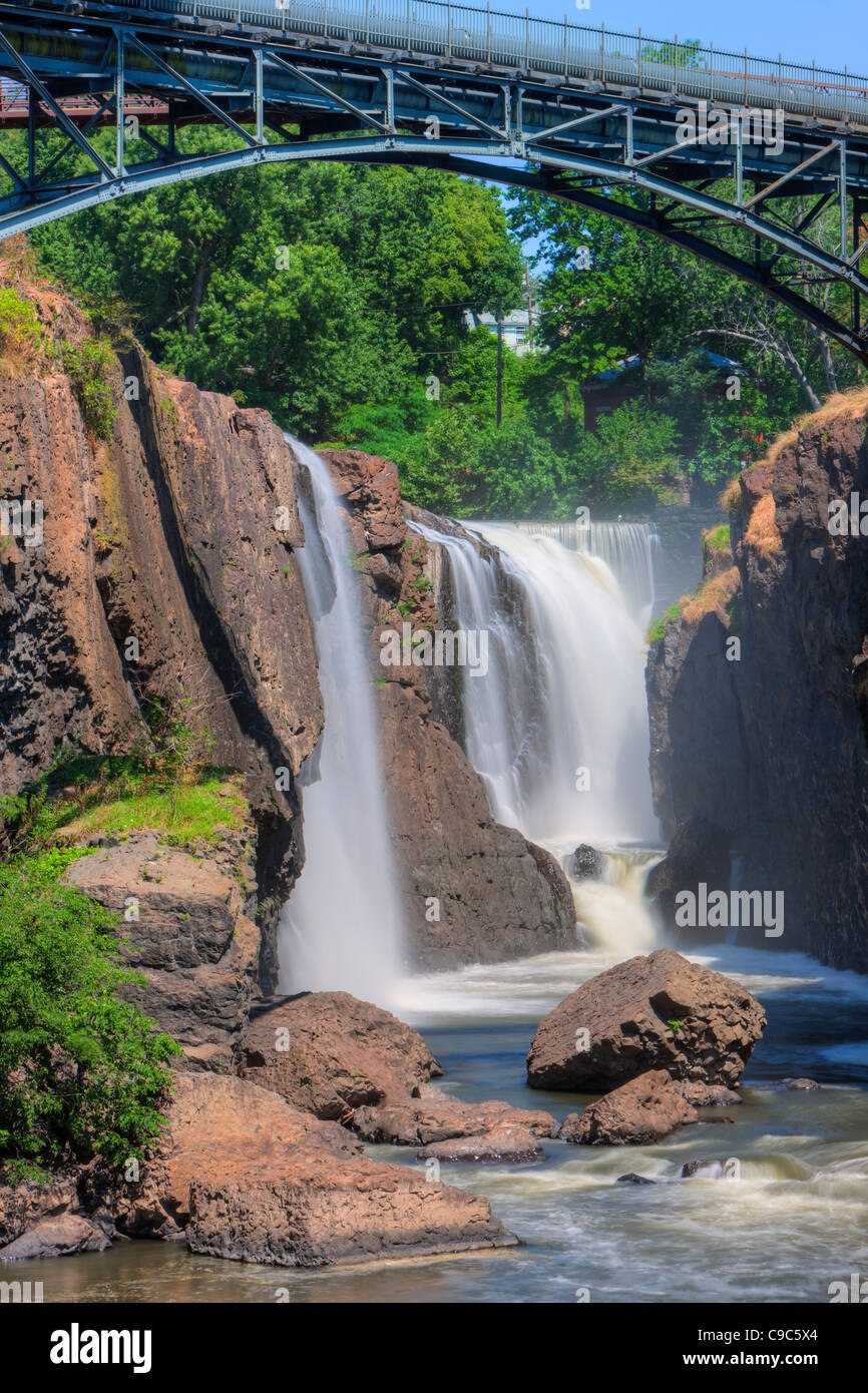 Paterson Great Falls on the Passaic River in Paterson, New Jersey - Stock Image