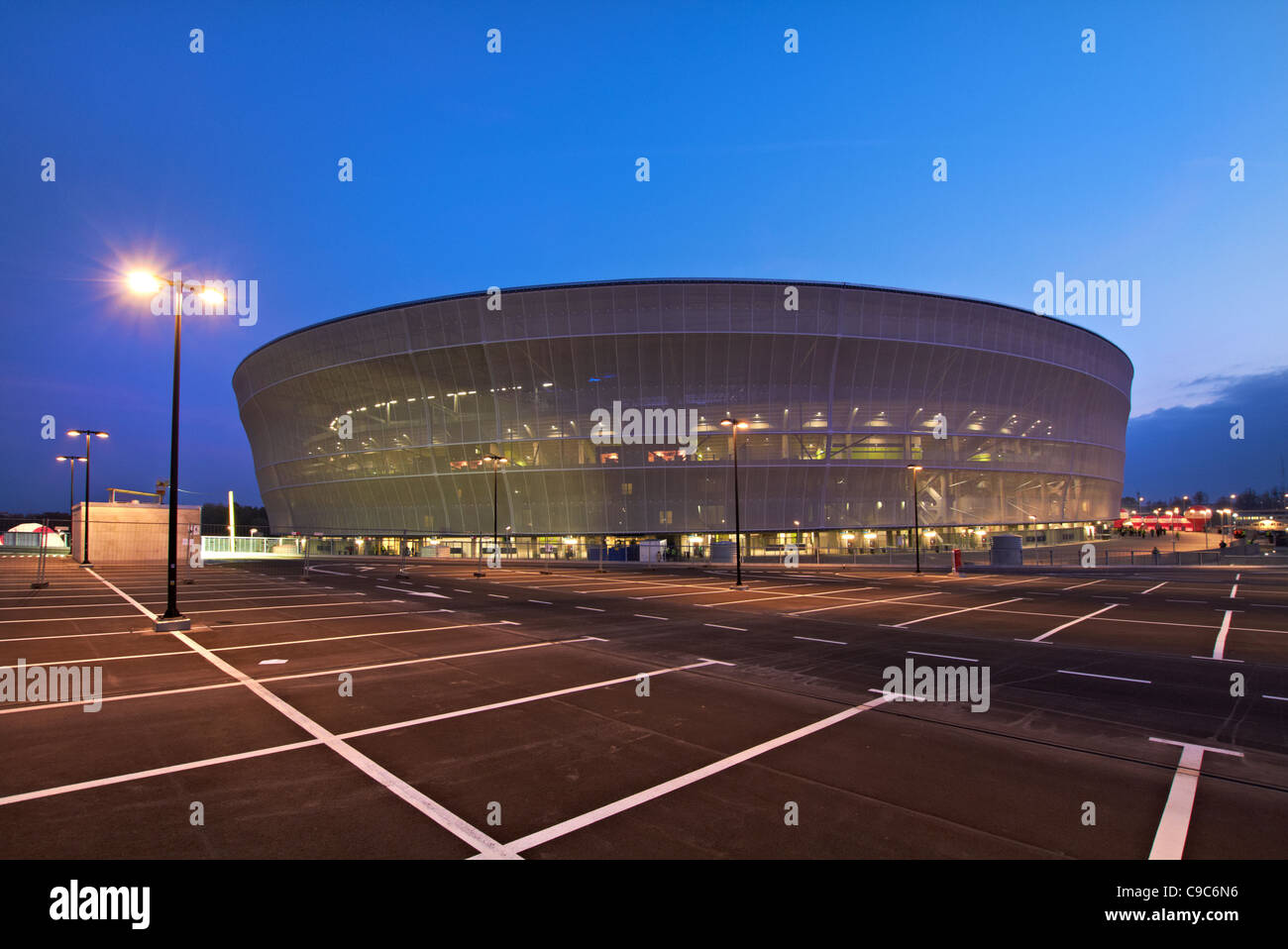 new stadium in Wroclaw, Poland - Stock Image