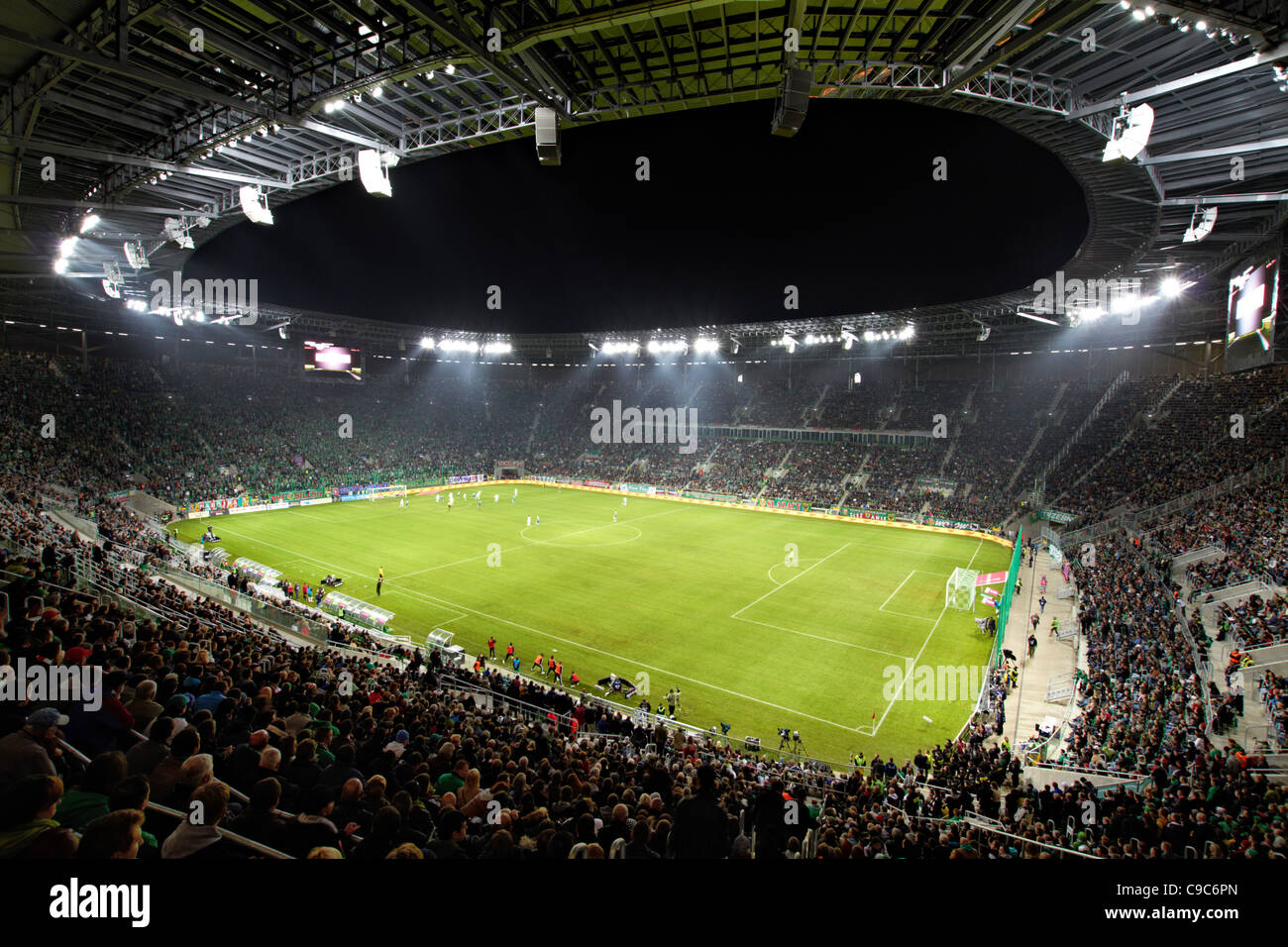 new stadium in Wroclaw, Poland - Stock Image