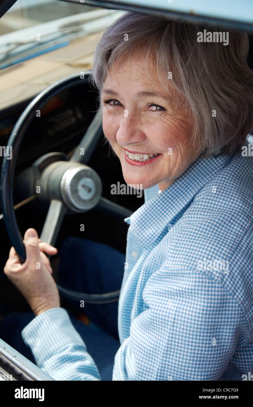 senior citizen driving car stock photos senior citizen driving car stock images alamy. Black Bedroom Furniture Sets. Home Design Ideas