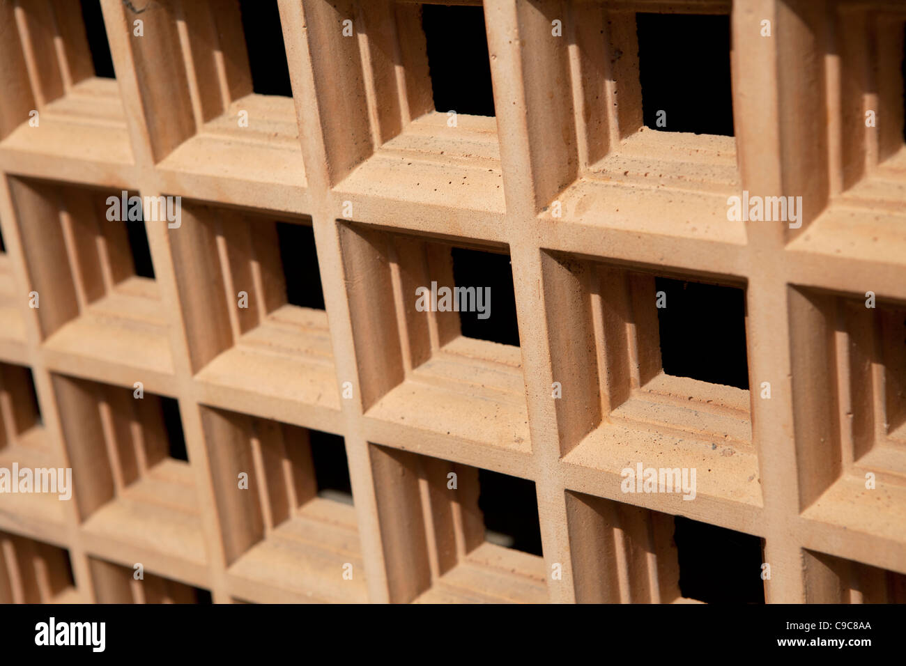 Clay Air Vents in the 1930's Conservatory in Fitzroy Gardens Melbourne. - Stock Image