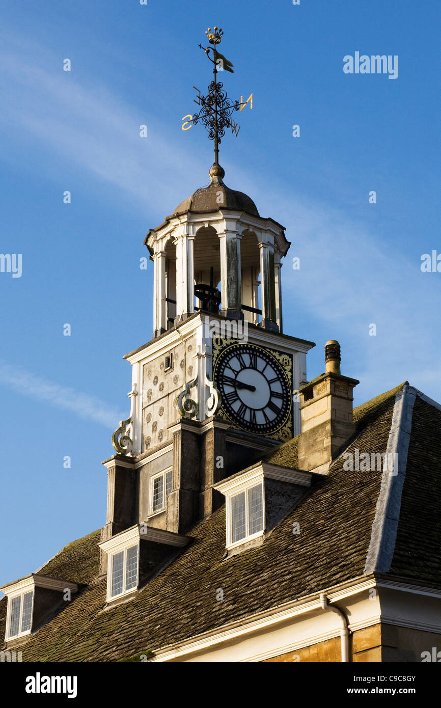 The Clock Tower, Brackley Town Hall, Northamptonshire. - Stock Image