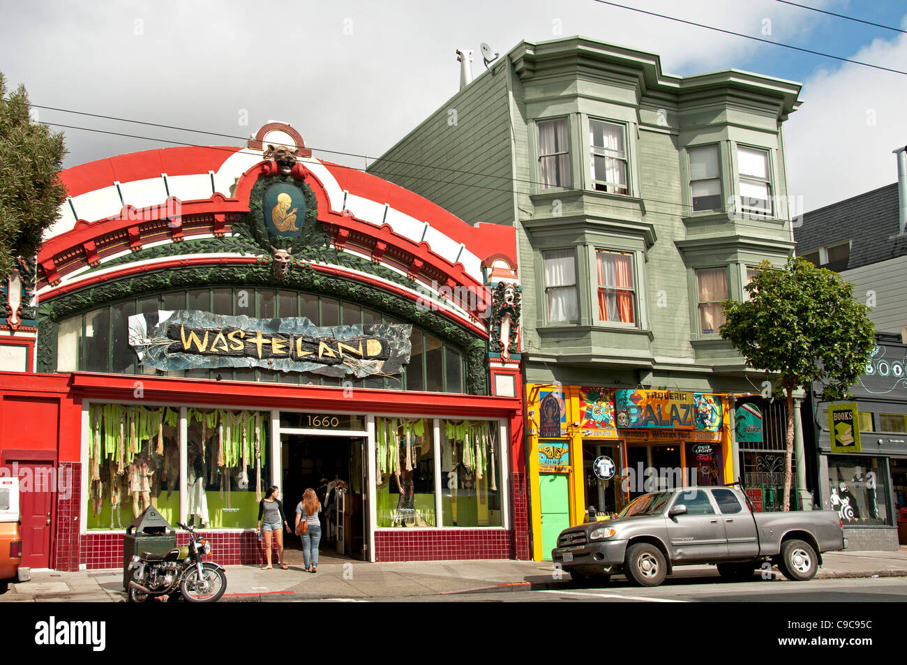 Wasteland San Francisco Haight Ashbury California USA United States - Stock Image