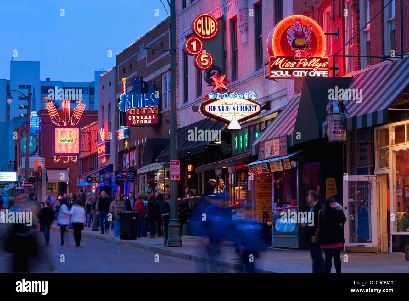 Beale Street, Memphis Stock Photo