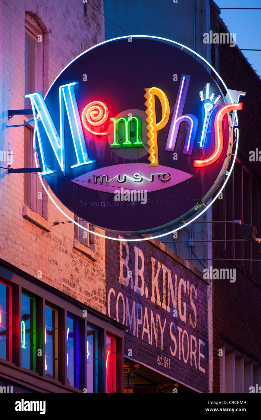 Memphis neon sign - Stock Image