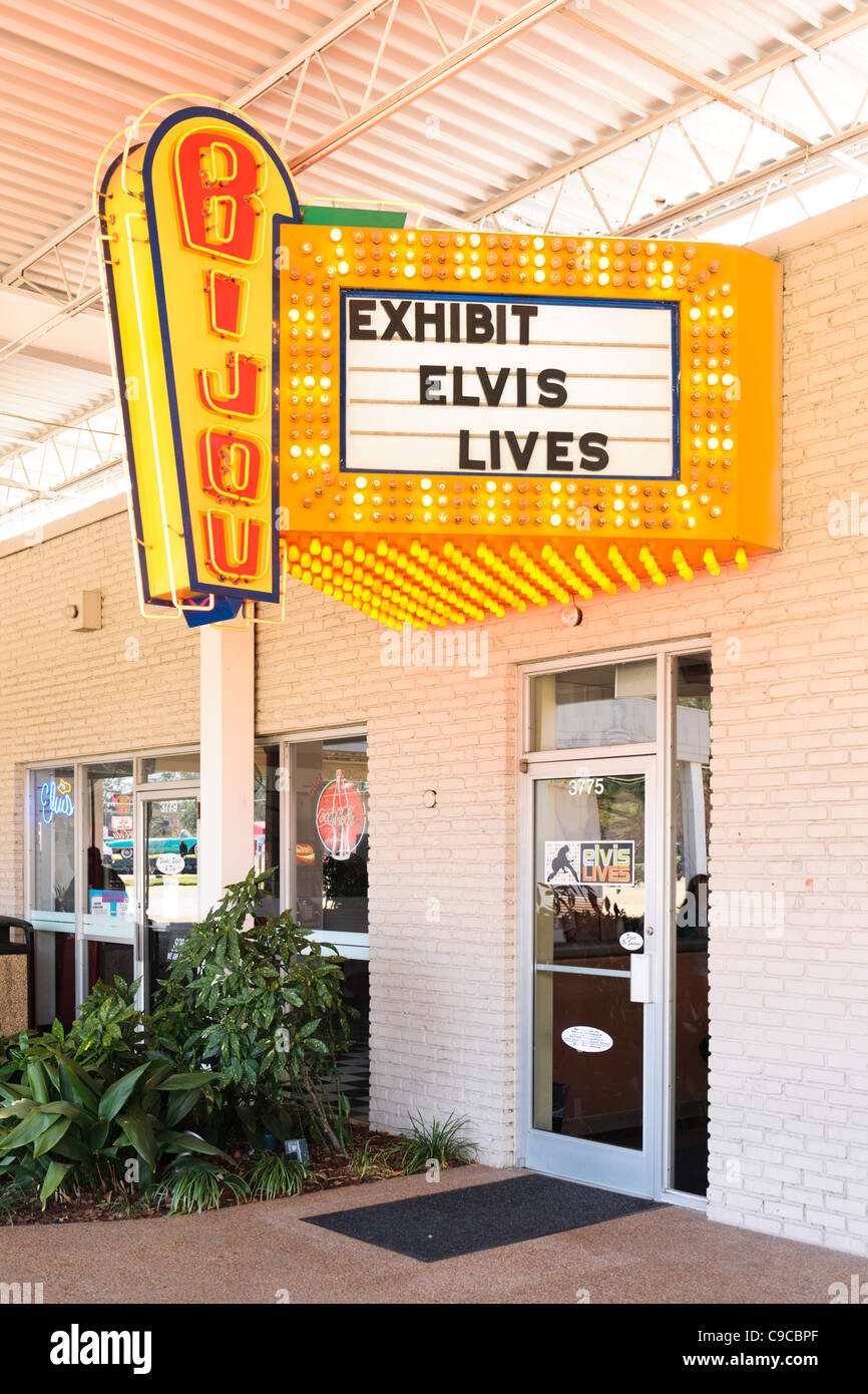 Elvis Lives Exhibit Graceland - Stock Image