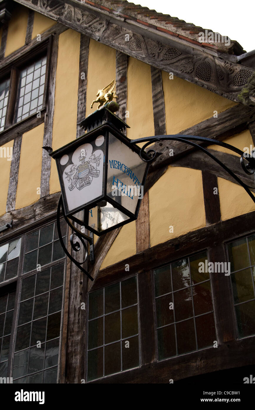 Lamp at Merchants treasurers House York light - Stock Image