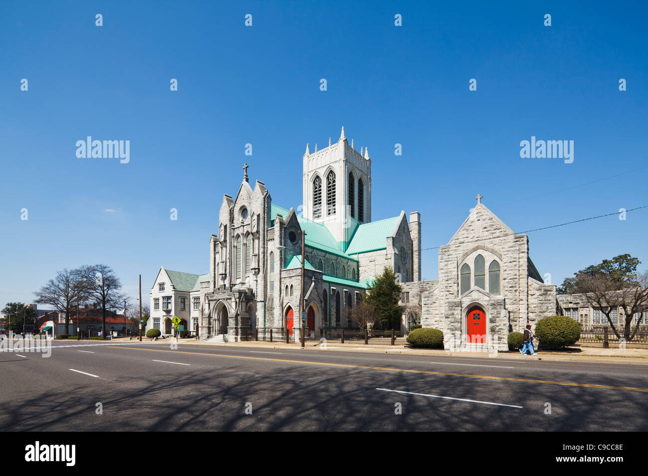 St. Mary's Episcopal Cathedral Memphis - Stock Image
