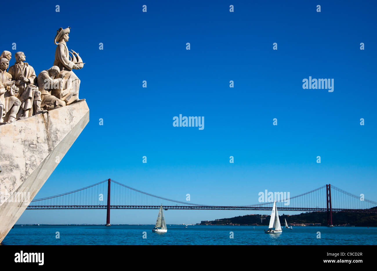 Padrao dos Descobrimentos (The Discovery Mounument) with Henry the Navigator at the bow, Lisbon Portugal Europe - Stock Image