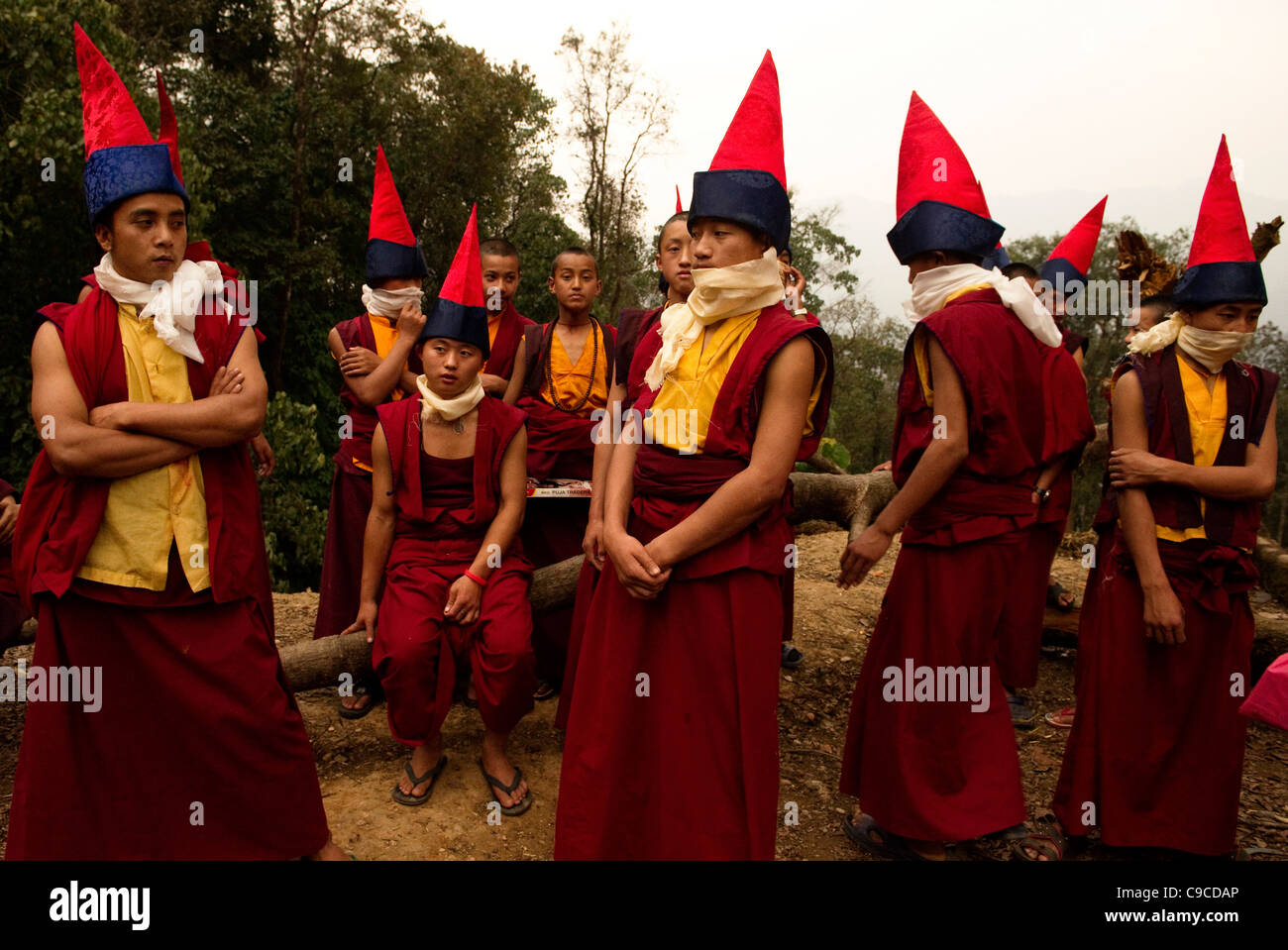 Buddhist Monk Hats Stock Photos   Buddhist Monk Hats Stock Images ... 5838b7f1fd9