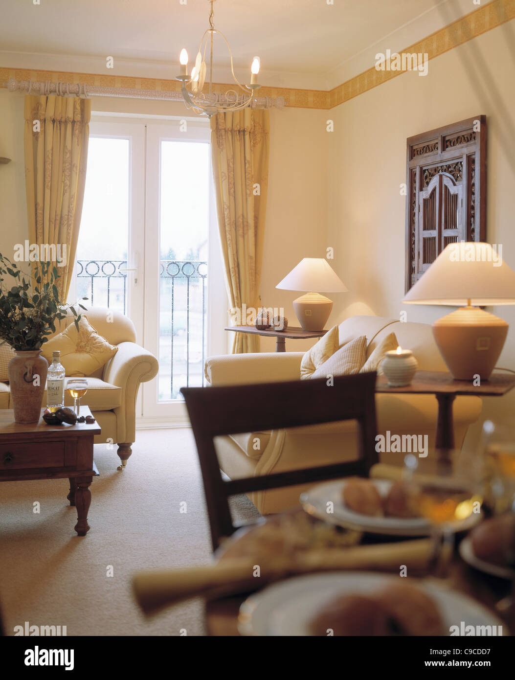 View of Lounge from dinning area - Stock Image
