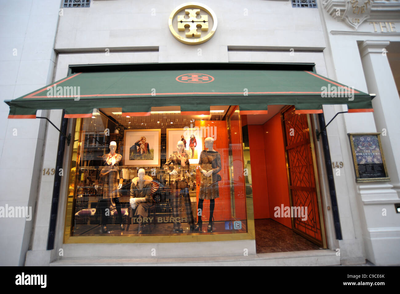 eb0baa98962 Exterior shot of the Tory Burch store on Brutton Street London England 2011  - Image Copyright