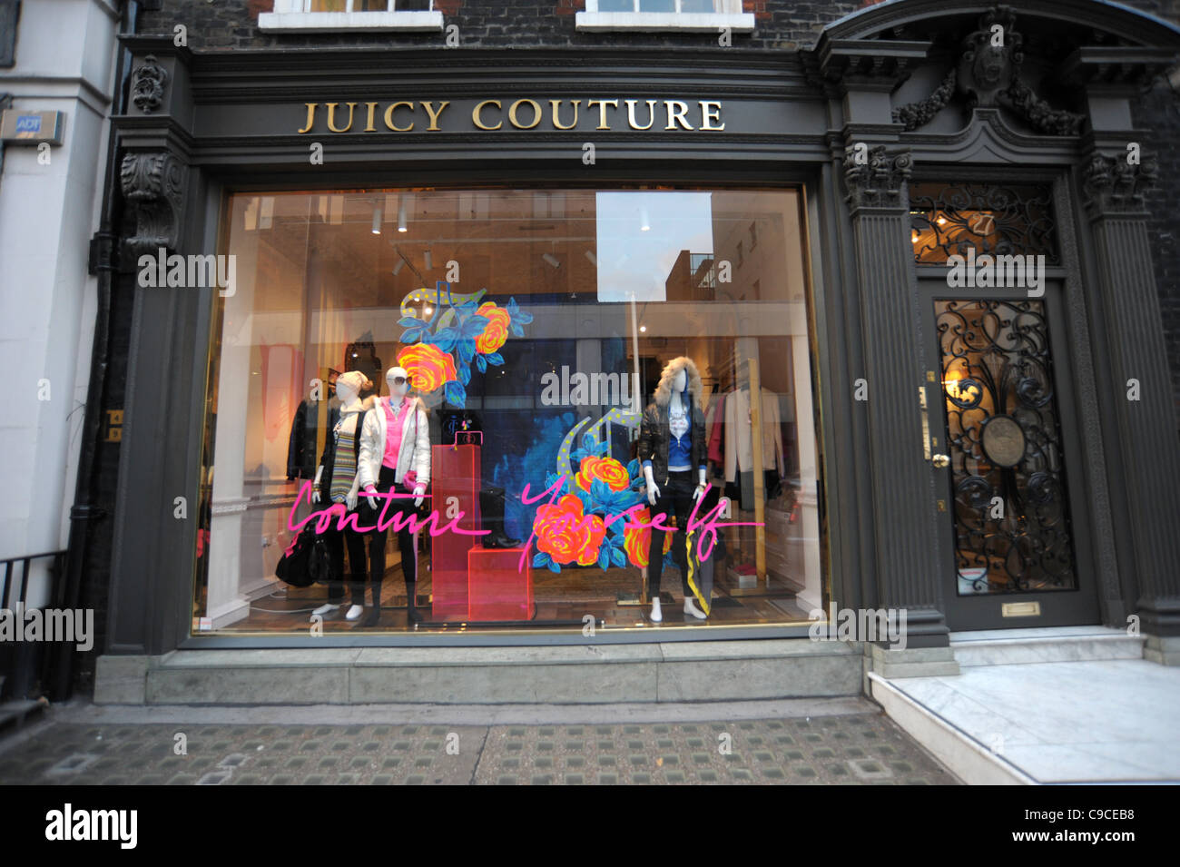 Exterior shot of the Juicy Couture store on Brutton Street London England 2011 - Image Copyright Ben Pruchnie 2011 - Stock Image