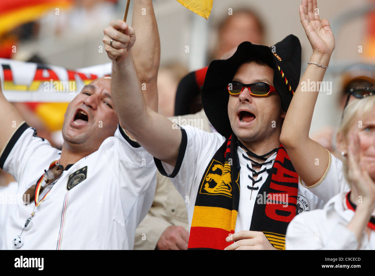Germany supporters cheer at the FIFA Women's World Cup Group A match between France and Germany at Stadion im - Stock Image