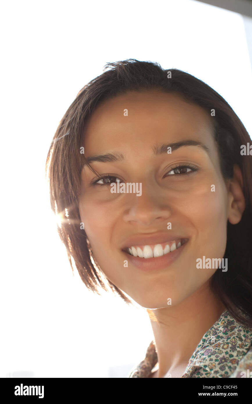 Woman smiling - Stock Image